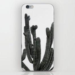 Black and White Cactus iPhone Skin