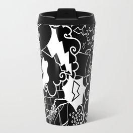 Black and White Graffiti pattern Travel Mug