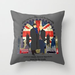 Sherlock - Eliminate The Impossible Throw Pillow