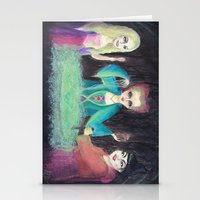 hocus pocus Stationery Cards featuring Sanderson Sisters - Hocus Pocus  by CreepyCuhcakes