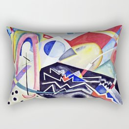 Wassily Kandinsky - White Zig Zags Rectangular Pillow