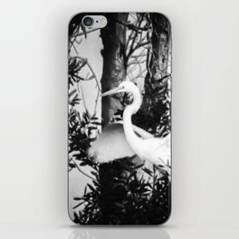 Great Egret In The Trees iPhone Skin