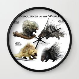 Porcupines of the World Wall Clock