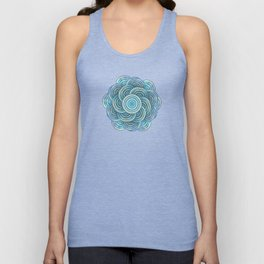 Blue fish scales pattern Unisex Tank Top