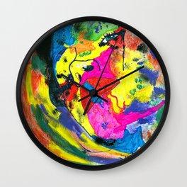 Colorful Girl Wall Clock