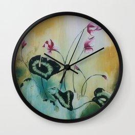 Cyclamen Study Wall Clock