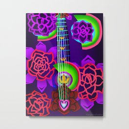 Fusion Keyblade Guitar #168 - Overdrive & Divine Rose Metal Print