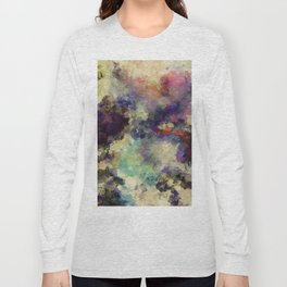 Contemporary Abstract Painting in Purple / Violet Color Long Sleeve T-shirt