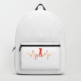 Golf Heartbeat Cool Gift For Golfer and Sport Lovers design Backpack