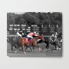 Race horses Metal Print