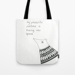 staring into space Tote Bag
