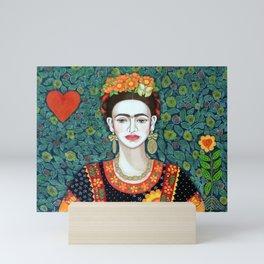 Frida, queen of hearts closer II Mini Art Print
