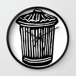 Trash Can Wall Clock