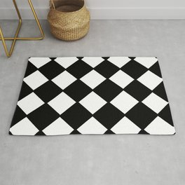 optical pattern 72 domino Rug