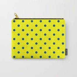 Maize & Blue polka Dots Carry-All Pouch