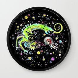 Red Riding Hood in Space Wall Clock