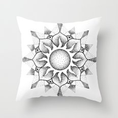 Dotwork mandala Throw Pillow