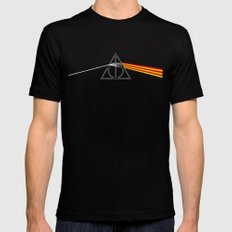 the darkside of the deathly hallows Black Mens Fitted Tee LARGE