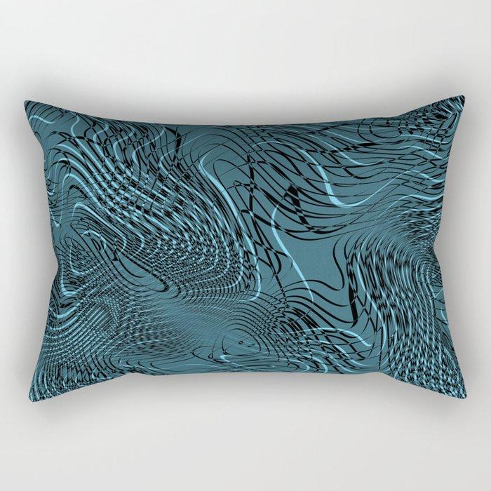 Just Crazy Blue Rectangular Pillow