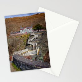 Hospital Steps at Llanberis Quarry Stationery Cards