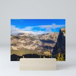 Sunny autumn day at the mount Salinchiet in the italian alps Mini Art Print