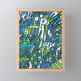 Feel This Real Forever (green) Framed Mini Art Print