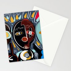 Say my name street art brut painting Stationery Cards