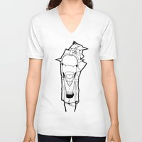 fullmetal V-neck T-shirts featuring Alphonse by PaigeAWArt