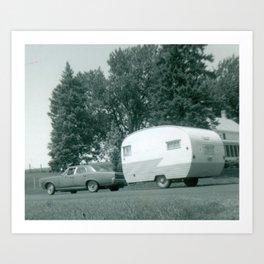 Vintage Shasta Trailer Art Print
