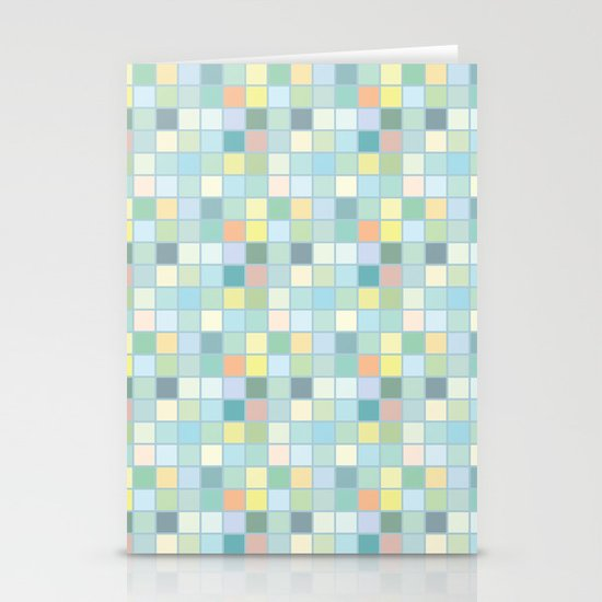 Pastel Squares Stationery Cards