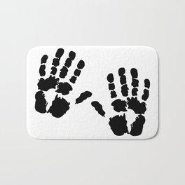 Hands  Prints Bath Mat