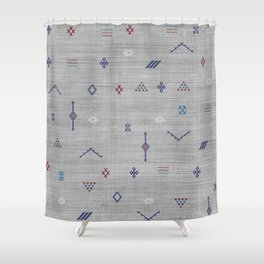 Cactus Silk Pattern in Grey Shower Curtain