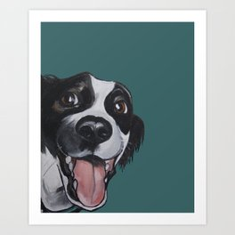 Maeby the border collie mix Art Print