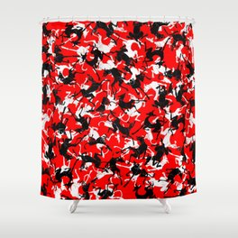 greyhounds stretching Shower Curtain