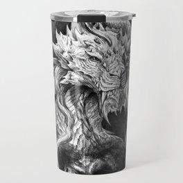 Dark Side Japanese Dragon portrait on black background | Graphit Travel Mug