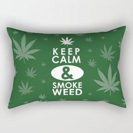 """""""Keep Calm and Smoke Weed"""" Rectangular Pillow"""