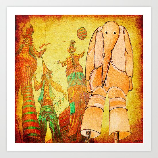 Victor and the Circus Art Print