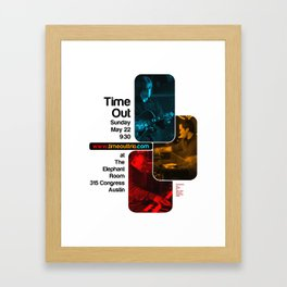 TIME OUT, THE ELEPHANT ROOM - AUSTIN, TX Framed Art Print