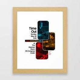 TIME OUT, THE ELEPHANT ROOM - AUSTIN, TX Framed Art Print
