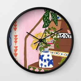 Bohemian stairs Wall Clock
