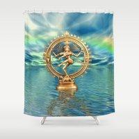 shiva Shower Curtains featuring Shiva Nataraja by LessaKs Art