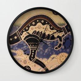 Kangaroo mural Wall Clock
