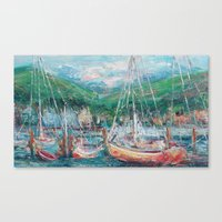 murray Canvas Prints featuring Murray Docks by Ann Marie Coolick