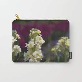 Warm White Flowers Carry-All Pouch