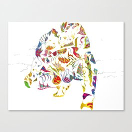 tatoo bear Canvas Print