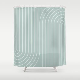 Minimal Line Curvature - Sage Shower Curtain