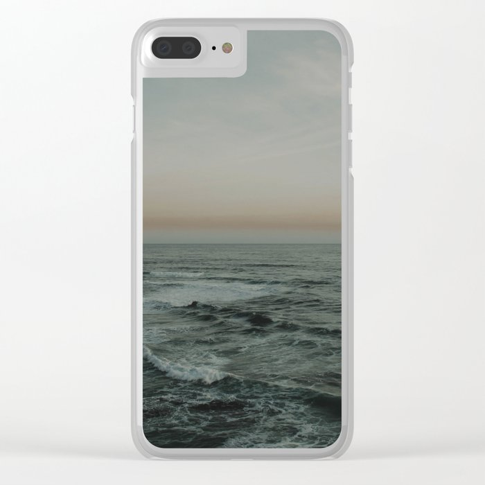 The calm ocean Clear iPhone Case