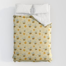 Childish Honey Bees Scandinavian Pattern Comforters