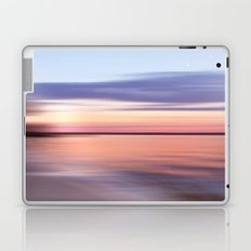 Wide River Dawn with Crescent Moon Laptop & iPad Skin