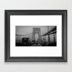 George Washington Bridge Traffic Framed Art Print